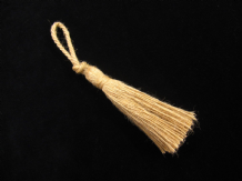 Small jute key tassel - Hard wearing rope string tasselled trim for home items